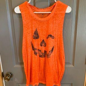 Women's Halloween pumpkin tank